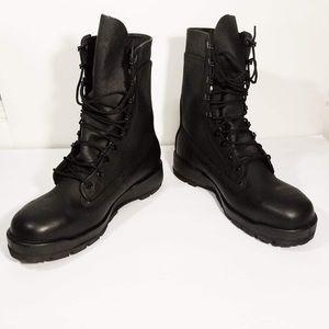 Boots Black 9M Steel Toe Belleville Vibram New
